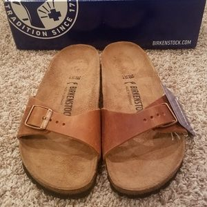 Birkenstock Madrid Cork Footbed Sandal 38 Narrow